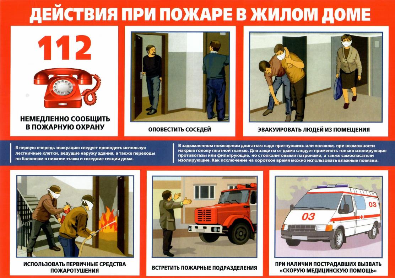 действия сотрудников при пожаре в картинках этом
